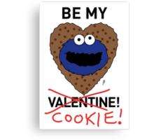 COOKIE MONSTER VALENTINE'S CARD 2 Canvas Print