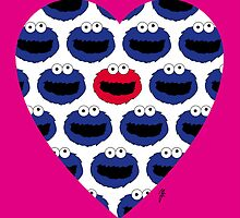 COOKIE MONSTER VALENTINE'S CARD 3 by mjfouldes