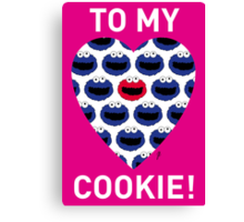 COOKIE MONSTER VALENTINE'S CARD 3 Canvas Print