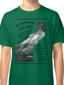 Finding Nemo, Jules Vernes New Steampunk Book Classic T-Shirt