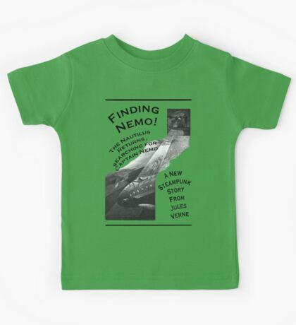 Finding Nemo, Jules Vernes New Steampunk Book Kids Tee