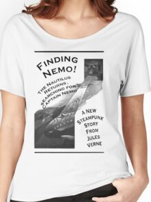 Finding Nemo, Jules Vernes New Steampunk Book Women's Relaxed Fit T-Shirt