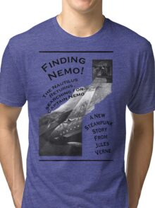 Finding Nemo, Jules Vernes New Steampunk Book Tri-blend T-Shirt