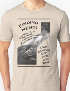 Finding Nemo, Jules Vernes New Steampunk Book T-Shirt
