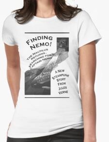 Finding Nemo, Jules Vernes New Steampunk Book Womens Fitted T-Shirt