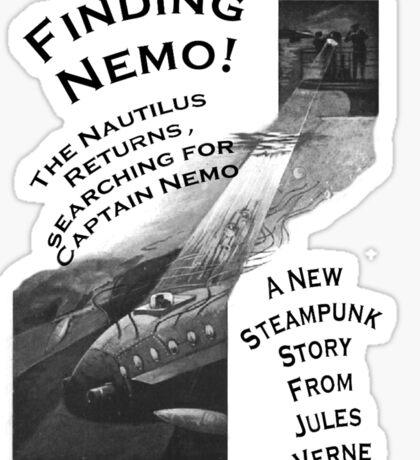 Finding Nemo, Jules Vernes New Steampunk Book Sticker