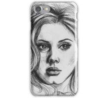 Adele portrait - Inktober 2015 iPhone Case/Skin