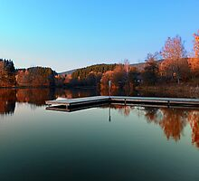 Indian summer at the lake by Patrick Jobst
