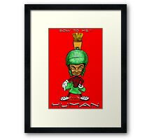 BOW TO ME HUMAN !! Framed Print