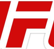 UFC Logo Blood Red   2015 Sticker