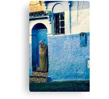 THE COLOUR OF HER DRESS IS PERFECT WITH THE REST OF THE PLACE!!! Morocco Canvas Print