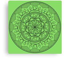 Leafy Mandala Canvas Print