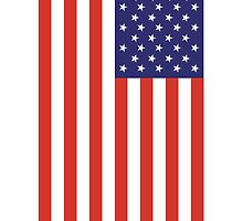 American Flag; (Portrait) Stars & Stripes; Pure & simple; USA by TOM HILL - Designer