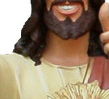 Jesus Winking Sticker