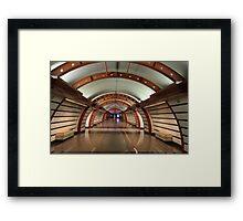interior subway station Framed Print