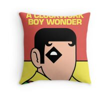A Clockwork Boy Wonder Throw Pillow