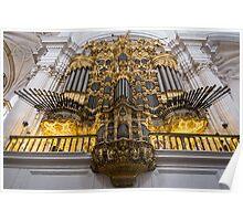 Golden Pipe Organ Poster