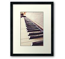 Vintage piano Framed Print
