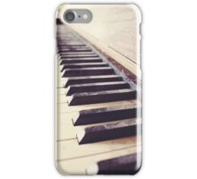 Vintage piano iPhone Case/Skin