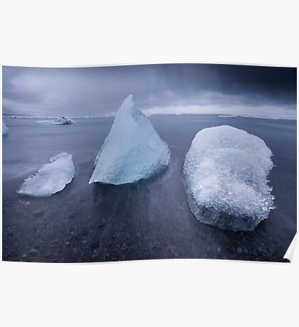 Mixed Icebergs Poster