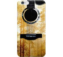 Guitar with Forest Print  iPhone Case/Skin
