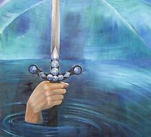 """Excalibur"" an original painting by Julie-Anne Cook B.A. (Hons) by elliottart"