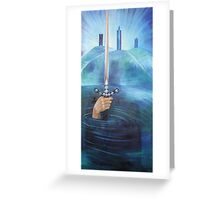 """""""Excalibur"""" an original painting by Julie-Anne Cook B.A. (Hons) Greeting Card"""