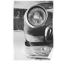 Vintage car - black & white Poster