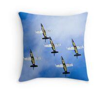 Breitling air display team L-39 Albatross Throw Pillow