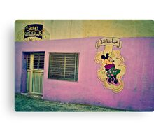 MINNIE MOUSE IN A PINK WALL!!! Morocco   Canvas Print