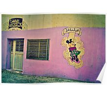 MINNIE MOUSE IN A PINK WALL!!! Morocco   Poster