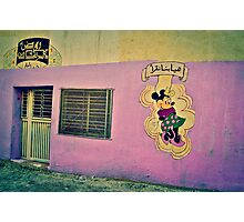 MINNIE MOUSE IN A PINK WALL!!! Morocco   Photographic Print