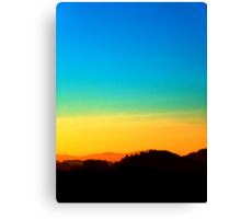 Colorful sundown scenic view | landscape photography Canvas Print
