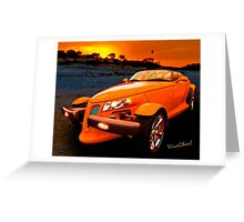 Chrysler Plymouth Prowler Rocky Sunset Greeting Card