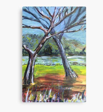 Sketching Trees Metal Print