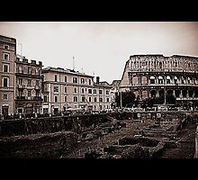 Rome, the Flavian Amphitheatre by orsinico