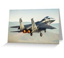 Israeli Air force (IAF) Fighter jet F-15 (BAZ)at takeoff  Greeting Card