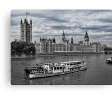Cruising the Thames Canvas Print