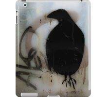 Graffiti crow on window iPad Case/Skin