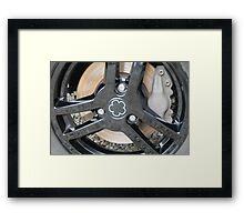 Mia Electric Wheel detail Framed Print