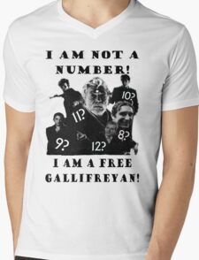 The Prisoner meets Dr Who, Numbers aren't everything Mens V-Neck T-Shirt