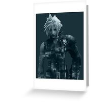 Cloud Final Fantasy VII Greeting Card