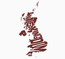 UK Type Map (Red) by seanings