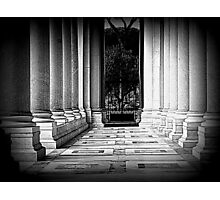 St Paul's Basilica, the colonnade Photographic Print