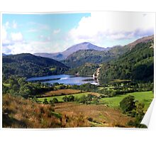 Snowdonia, Lakes, Mountains and Beautiful Countryside  Poster