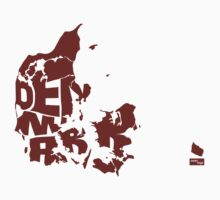 Denmark Type Map (Red) by seanings