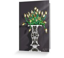 Yellow Tulips on Gray Greeting Card