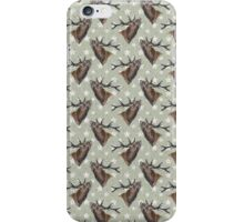green stag fabric  iPhone Case/Skin