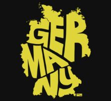 Germany Type Map (Yellow) by seanings