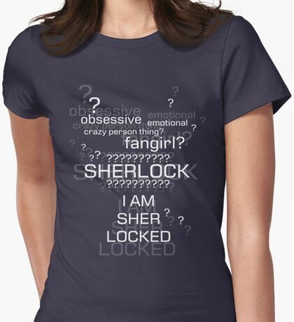 Drunk Sherlock Fangirl Womens Fitted T-Shirt